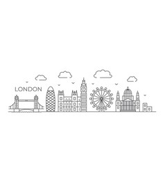 London line drawing in line vector