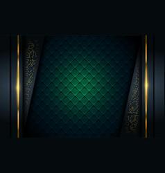 Luxurious dark background with golden line vector