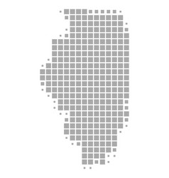 Map illinois vector