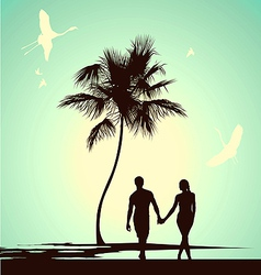 Married couple walking vector
