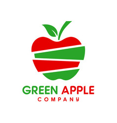 Natural apple logo design vector