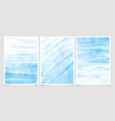 natural edge blue brush stroke watercolor vector image