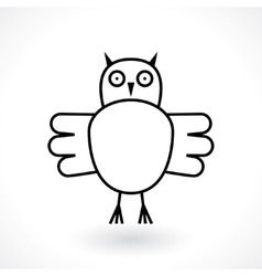 Owl abstract symbol vector