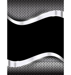 Polished steel texture on hold metal with curve vector image