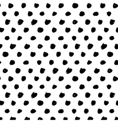Polka dot brushe stroke seamless pattern Abstract vector image