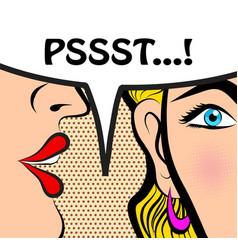 Pop art style comic book panel gossip girl vector