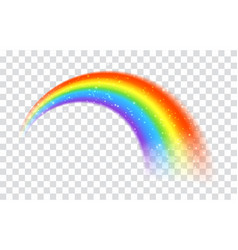Rainbow icon isolated on transparent background vector