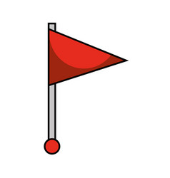 red flag pin location web symbol vector image