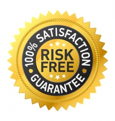 risk-free guarantee label vector image