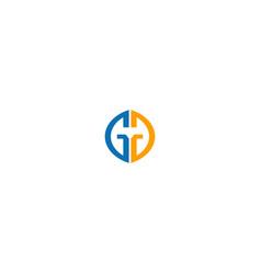 round g initial shape company logo vector image