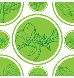 Seamless flowerlogo pattern 1 vector