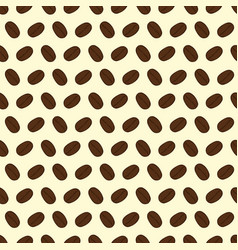 seamless pattern of coffee beans on a cream vector image