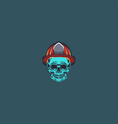 skull mascot logo vector image