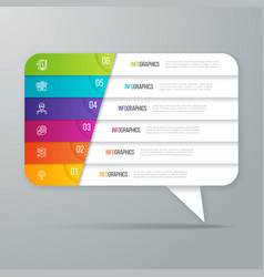 Speech bubble shaped infographic design 6 options vector