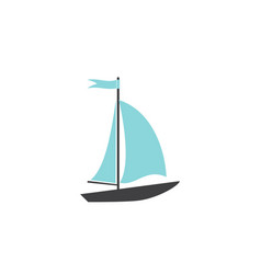 speed boat on white background icon vector image