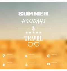 Summer abstract blurreddefocused background with vector
