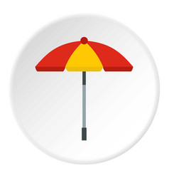 Sun umbrella icon circle vector