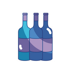 Tasty wine bottles beverage icon vector