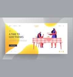 thanksgiving day celebration dinner website vector image