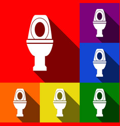 toilet sign set of icons vector image