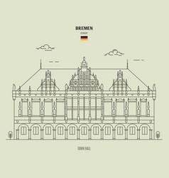 town hall in bremen vector image