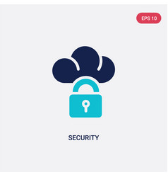 two color security icon from electrian vector image