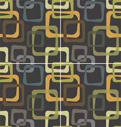 Vintage pattern with cubes vector