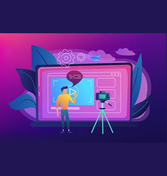 vlog concept vector image