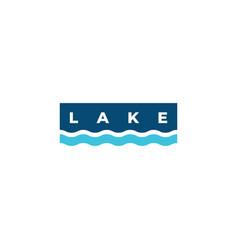 water wave logo design vector image