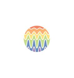 Wave wavelength logo icon symbol element vector