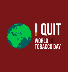 World no tobacco day flat vector