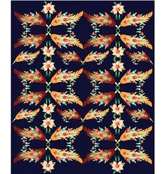 decorative oriental pattern vector image vector image