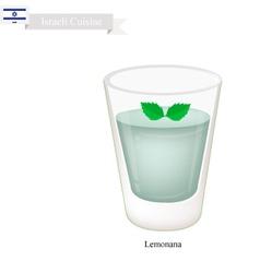 Lemonana or in Israeli Frozen Mint Lemonade vector image