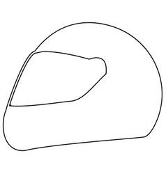racing helmet the black color icon vector image vector image