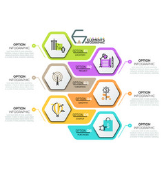 Creative infographic design template with 6 vector
