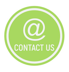 email address flat icon contact us and website vector image vector image
