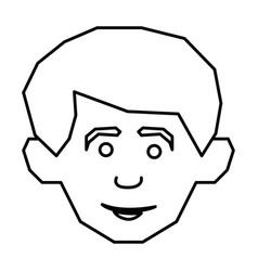 face happy man icon vector image