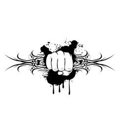 fist and patterns vector image vector image