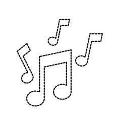 note music sound melody harmony icon vector image