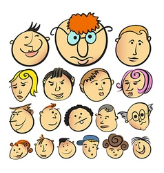 People face cartoon icon vector image vector image