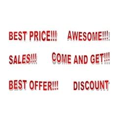 Sales inscriptions vector image