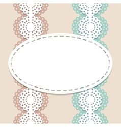 Seamless lace background vector image vector image