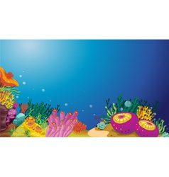 Underwater scene vector image