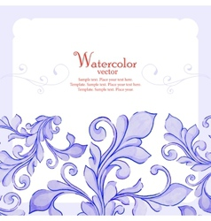 Barocco watercolor lace ornament vector image