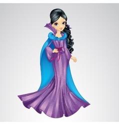 Beautiful Brunette Snow Queen vector image vector image