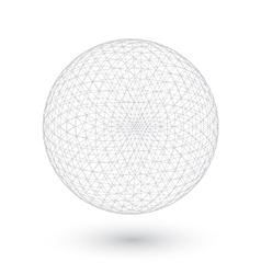 Connection Spirograph Wired Ball Isolated vector image