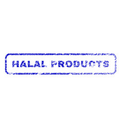 halal products rubber stamp vector image vector image