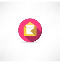 Open yellow envelope with a mail vector