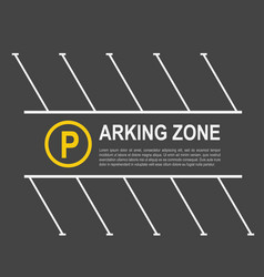 parking zone mockup vector image vector image