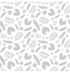 silver grey tropical summer hawaiian vector image vector image